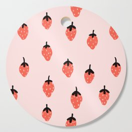 Pink strawberry fields forever Cutting Board