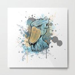 Shoebill Stork Metal Print