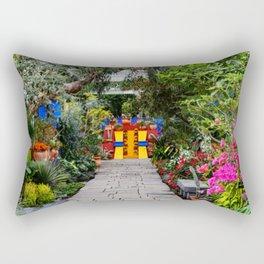 Frida Kahlo's Garden Rectangular Pillow
