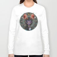 zodiac Long Sleeve T-shirts featuring Zodiac : Capricorn by Det Tidkun