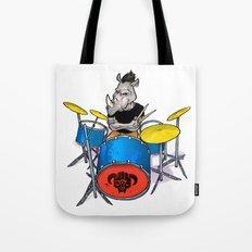 Rhino Punk Tote Bag