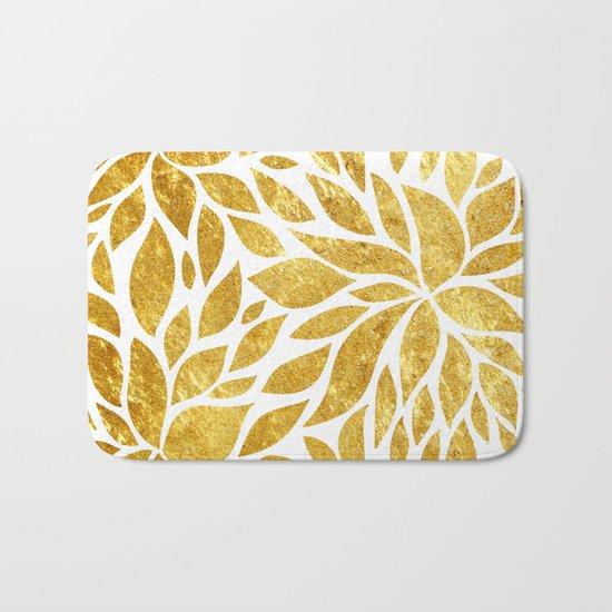 Golden Bloom Bath Mat