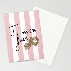 Je m'en fous Stationery Cards