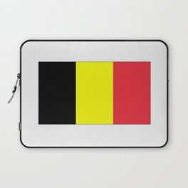 Flag of belgium-belgian,belge,belgique,bruxelles,Tintin,Simenon,Europe,Charleroi,Anvers,Maeterlinck Laptop Sleeve