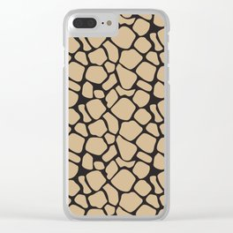 Black and Tan Rock Pattern Clear iPhone Case