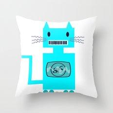 Robot Cat Throw Pillow