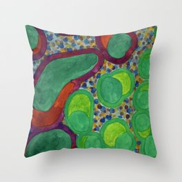 Filled Spicy Vegetables Throw Pillow