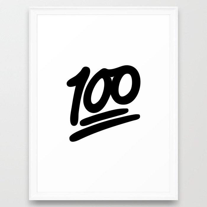 100 Emoji Black Framed Art Print By Nolandempsey Society6