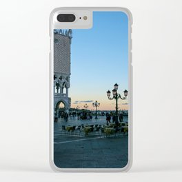 Sunset on piazzetta San Marco Venice Clear iPhone Case