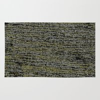 physics Area & Throw Rugs featuring Physics Rosetta Stone  by Design Gregory