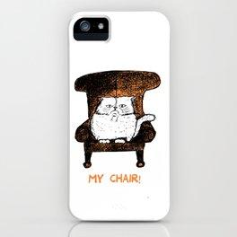 Mr Chair!  (Orange) iPhone Case
