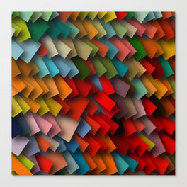 colorful rectangles with shadows Canvas Print