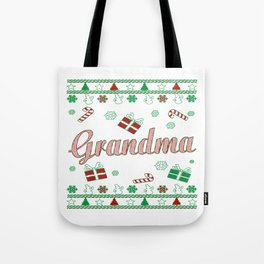 Grandma Christmas Tote Bag