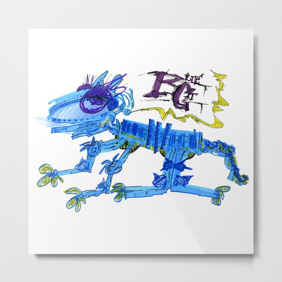 The Blue Cat Metal Print