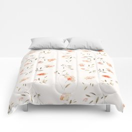 Watercolor Floral Pattern Comforters