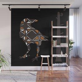 Totemic Crow Wall Mural