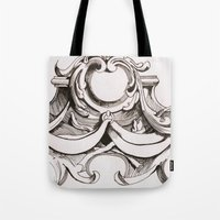 tapestry Tote Bags featuring Tapestry by Bake