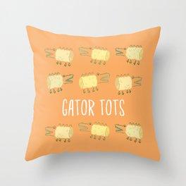 Gator Tots Throw Pillow