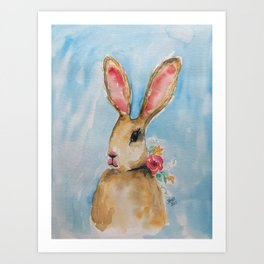 Harietta the Hare Art Print