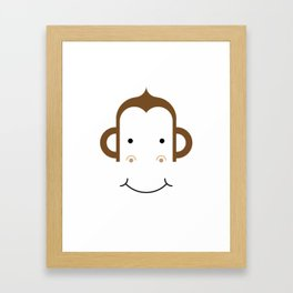 Monkey Face Framed Art Print