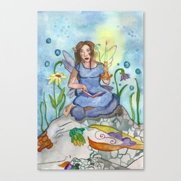 Last Candle (Fairy and the Dragon) Canvas Print