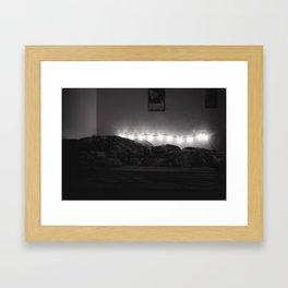 Bedroom Lights Framed Art Print