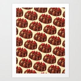 Cake Pattern - Bundt Art Print