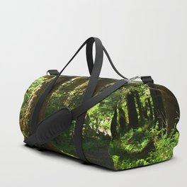 Walkway in Hoh Rainforest Duffle Bag