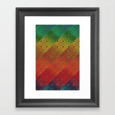 Color Transition Pattern Framed Art Print