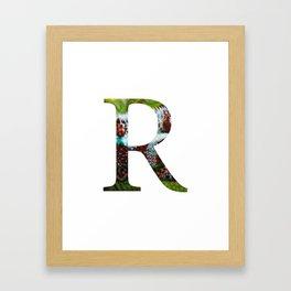 """Initital letter """"R"""" Framed Art Print"""