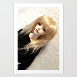 Blond Vampire Boy ball-jointed doll Art Print