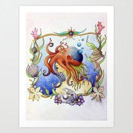 Octopus Wench Art Print