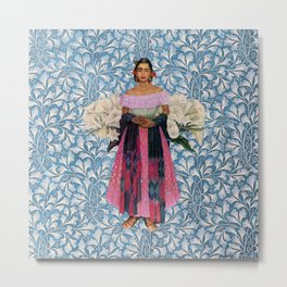 FRIDA BLUES PICTURE COLLAGE  Metal Print