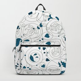 Byzantine floral ornament Backpack
