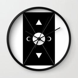 minimalist tarot deck Wall Clock