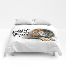 Lion Wild and Free Comforters