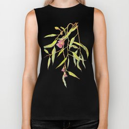 Flowering eucalyptus tree branch Biker Tank