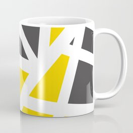 Abstract Interstate  Roadways Gray & Yellow Color Coffee Mug