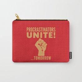 Procrastinators Unite Tomorrow (Red) Carry-All Pouch