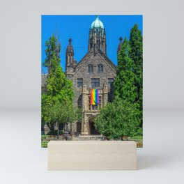 Church With LGBT Pride Flag Mini Art Print