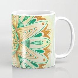 Simple Green/Yellow Mandala Coffee Mug
