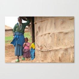 Village Life Canvas Print