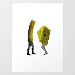 Because she's the cheese and I'm the macaroni Art Print