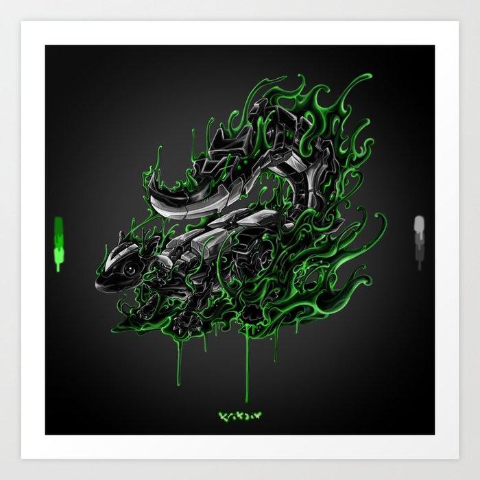 robot skunk Art Print