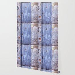 Old Blue Door Wallpaper