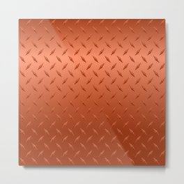 Copper Diamond Plate Metal Print