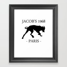 Black Dog Jacob's 1968 fashion Paris Framed Art Print