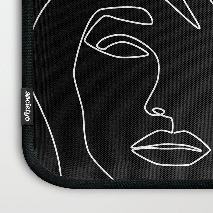 Faces in Dark Laptop Sleeve