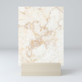 Gold Marble Natural Stone Veining Quartz Mini Art Print