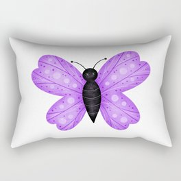Cute Purple and Black Butterfly Rectangular Pillow